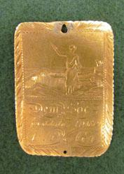 Engraved medal for the Franklin College Demosthenian Society; Inscribed to A.G. Semmes
